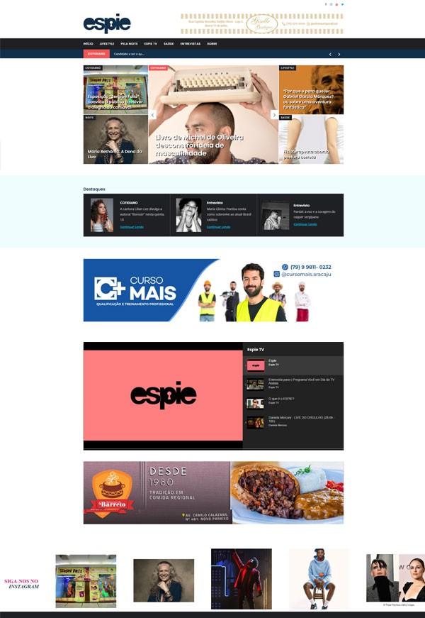 Página Home desktop